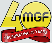 MGF Celebrating 40 years Logo
