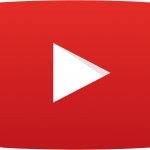 White and red YouTube icon