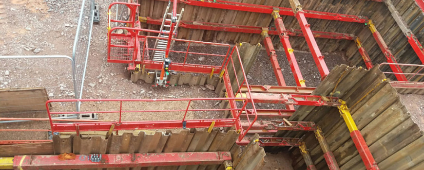 View of an excavation with MGF kit