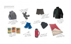 Items to go in a rucksack