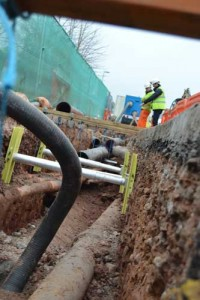 Inside look at a trench fitted with MGF GRiPSHORE on a work site