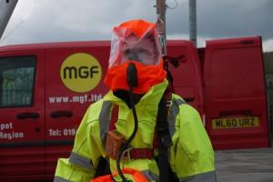 Man in safety equipment