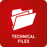 White animation of open files with the words 'Technical Files' on a red background