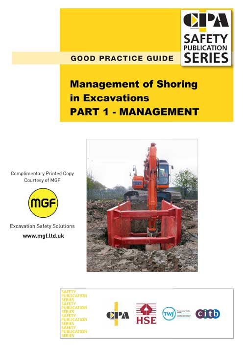 MGF copy of CPA Management of Shoring in Excavations brochure front cover
