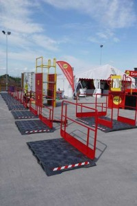 MGF products set up on display with branded banners for Exeter depot open day