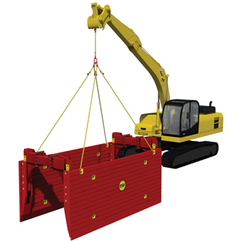 High Clearance Trench Box 340 x 340 High Clearance Trench Boxes