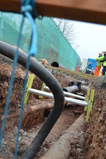 St Johns web2 Case Study   Sewer Replacement in Shallow Trench GRiPSHORE