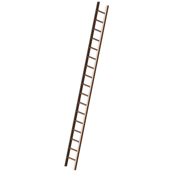 Wooden Pole Ladder 340 Wooden Pole Ladders