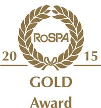 RoSPA Gold Award 2015 logo on a white background