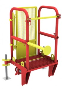 Animation of MGF Mini Laddersafe on a white background
