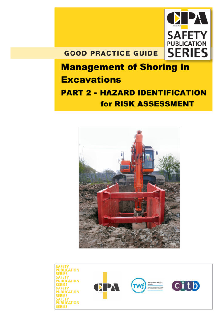 Brochure artwork for CPA Good Practise Guide with an MGF trench box on the cover