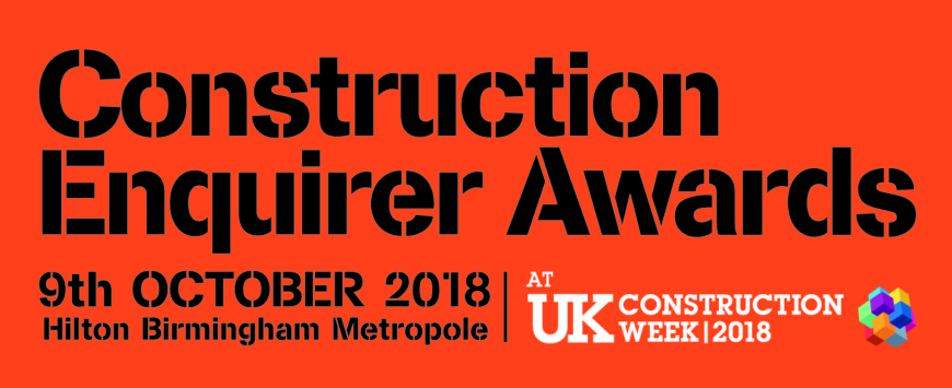 Two Nominations for the Construction Enquirer Awards