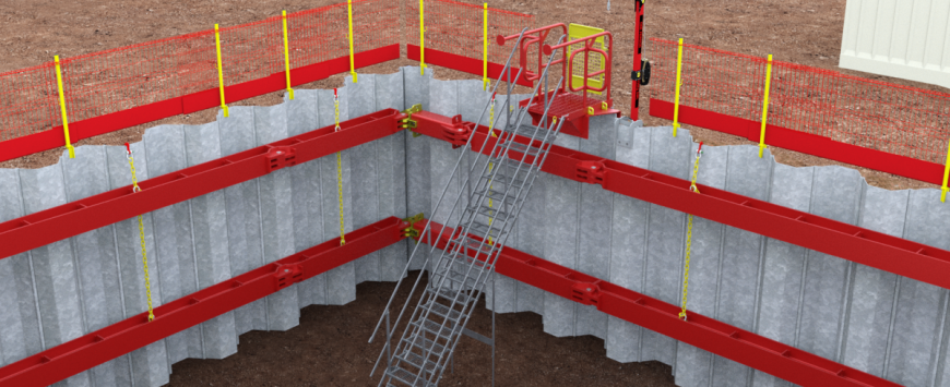 MGF introduce new Stairsafe to existing range of Shoring Safety Products