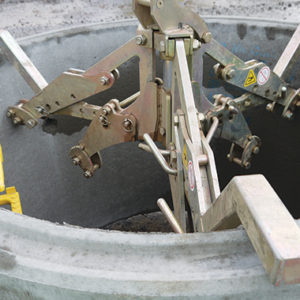 Manhole Ring Lifter in use on site