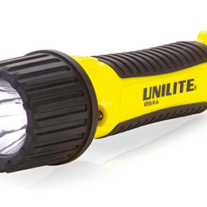 Black and yellow Safety Torch on a white background