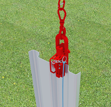Animation of MGF Pitching Shackles being used outside