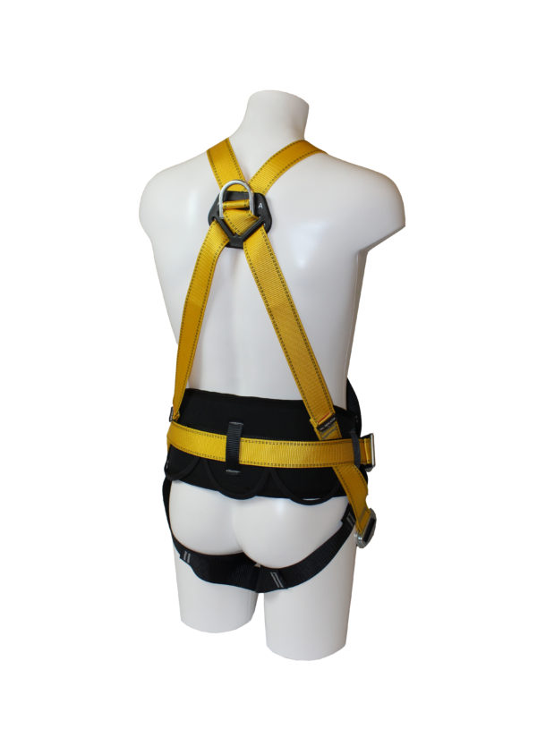 Work Positioning Harness product displayed on a mannequin