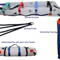 Diagram of slix 100 stretcher kit on a white background