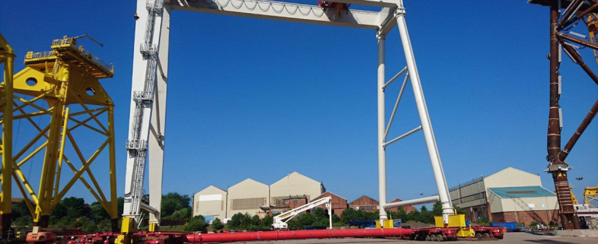 Case Study: Struts Used to Install 540t Gantry Cranes