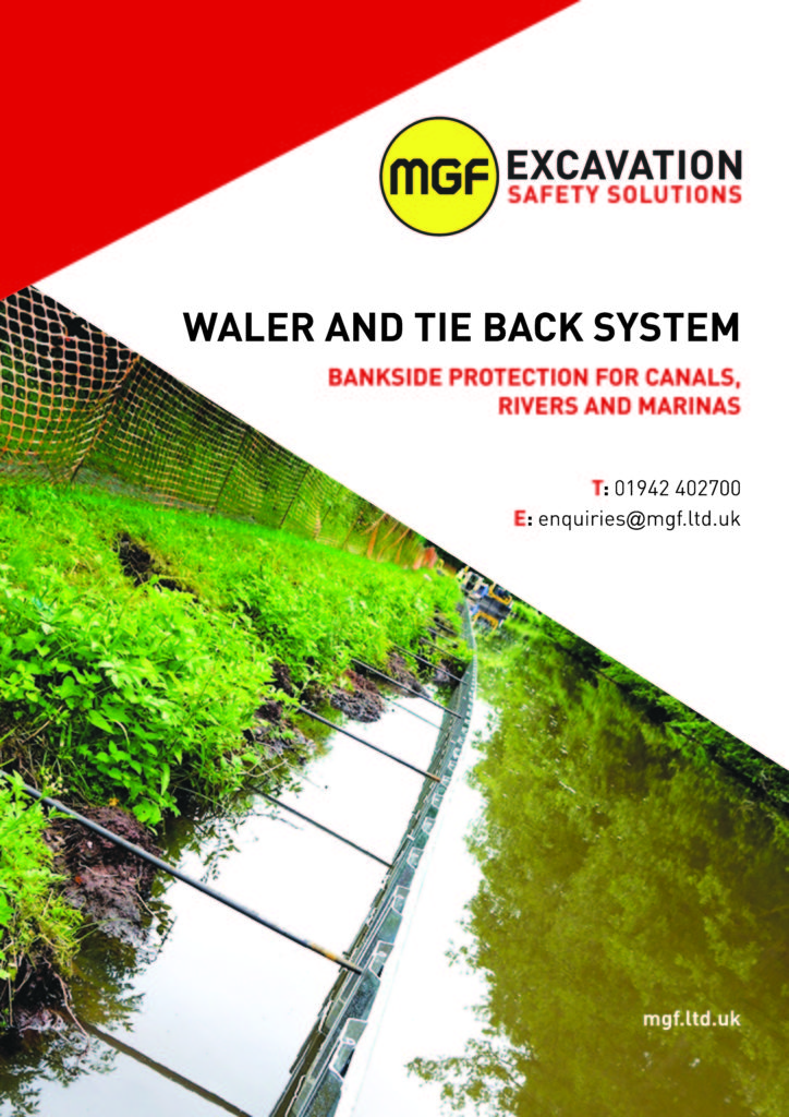 MGF Waler and Tie Back System brochure front cover
