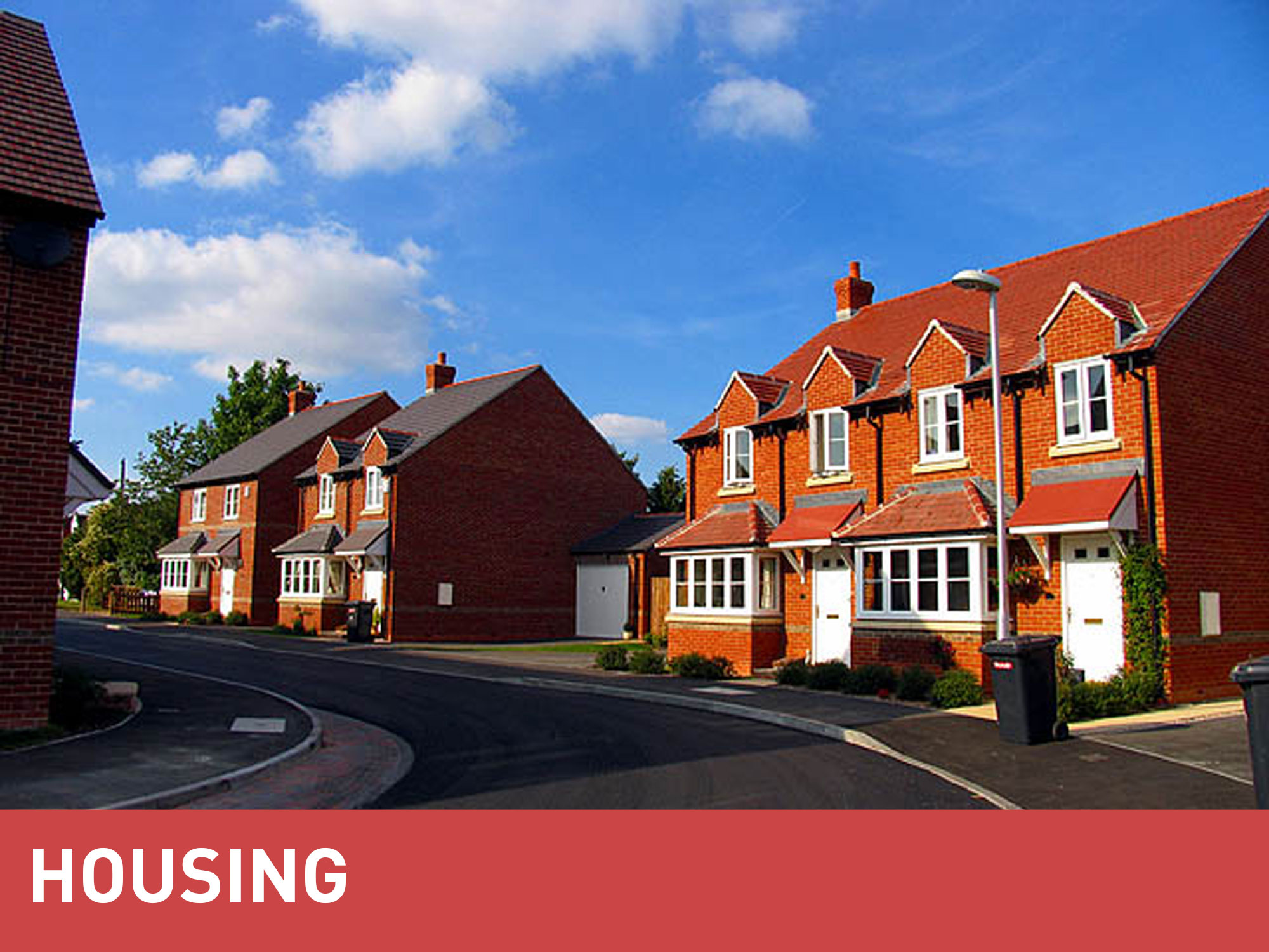 MGF Homes category banner over an image of a street on a housing estate