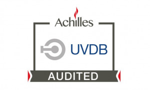 Achilles UVDB audited logo on a white background