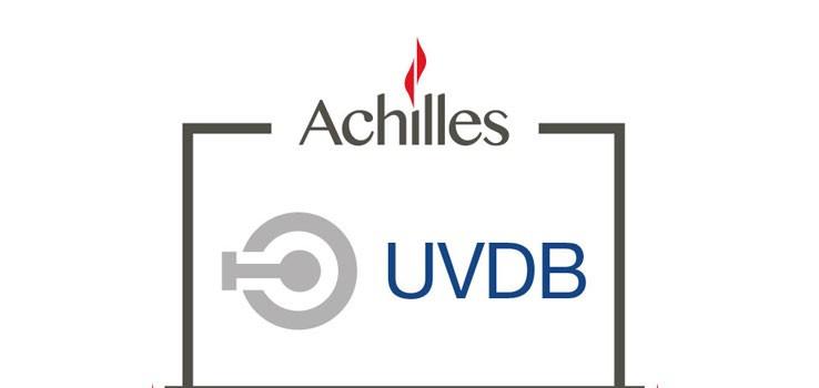 Achilles UVDB audited logo on a white background