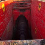Inside a red MGF trench box installed onsite