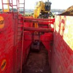 Inside look at red MGF trench boxes used onsite