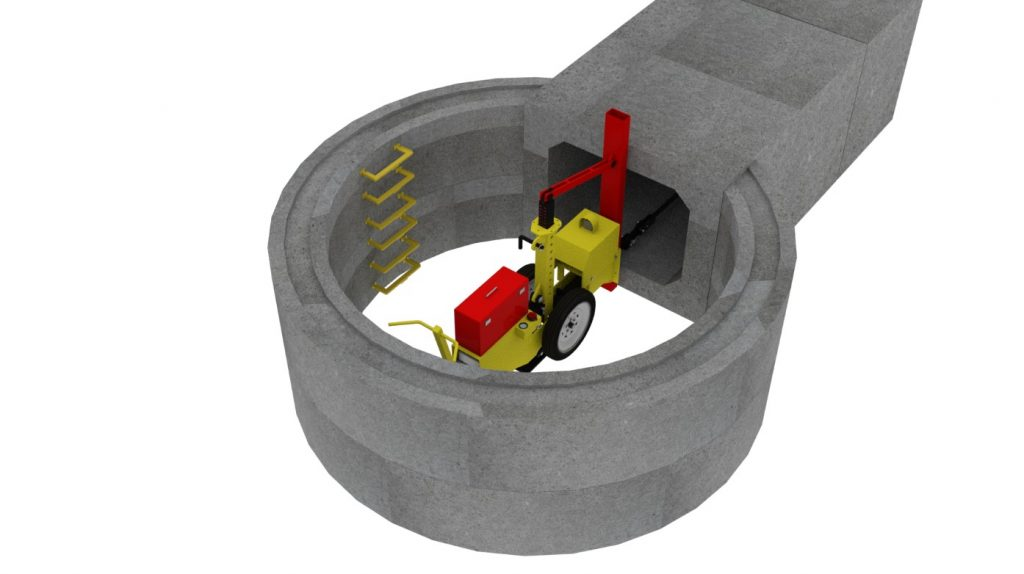 Amination of MGF Culvert Puller Adaptor at work