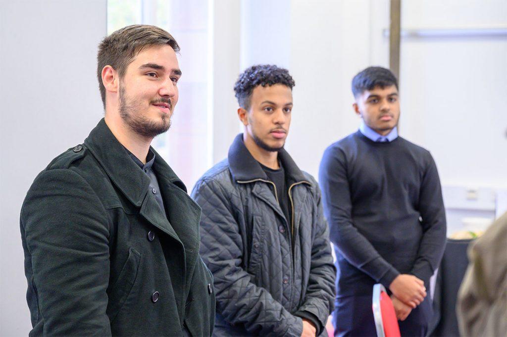 Three MGF scholarship students at donor reception