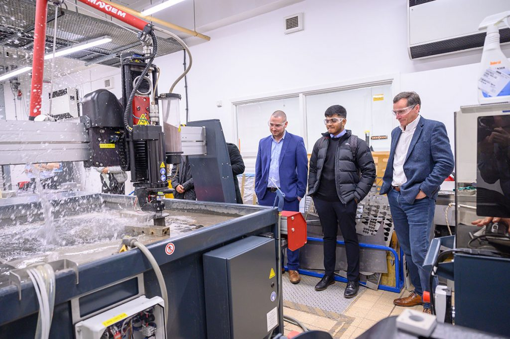MGF go on tour of new research and development centre in University of Salford