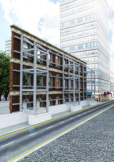 Image of facade retention