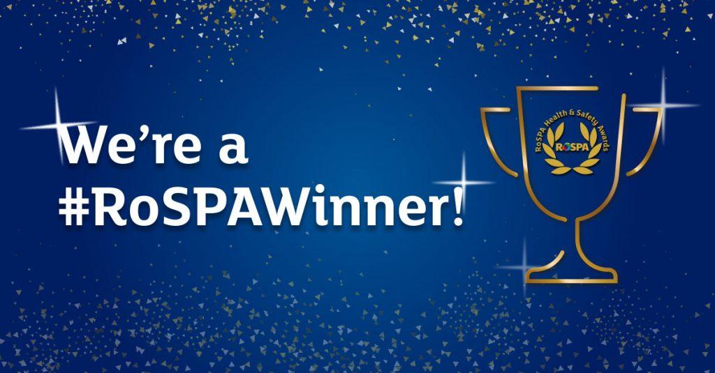 Awards Social Media Were a RoSPA Winner cup