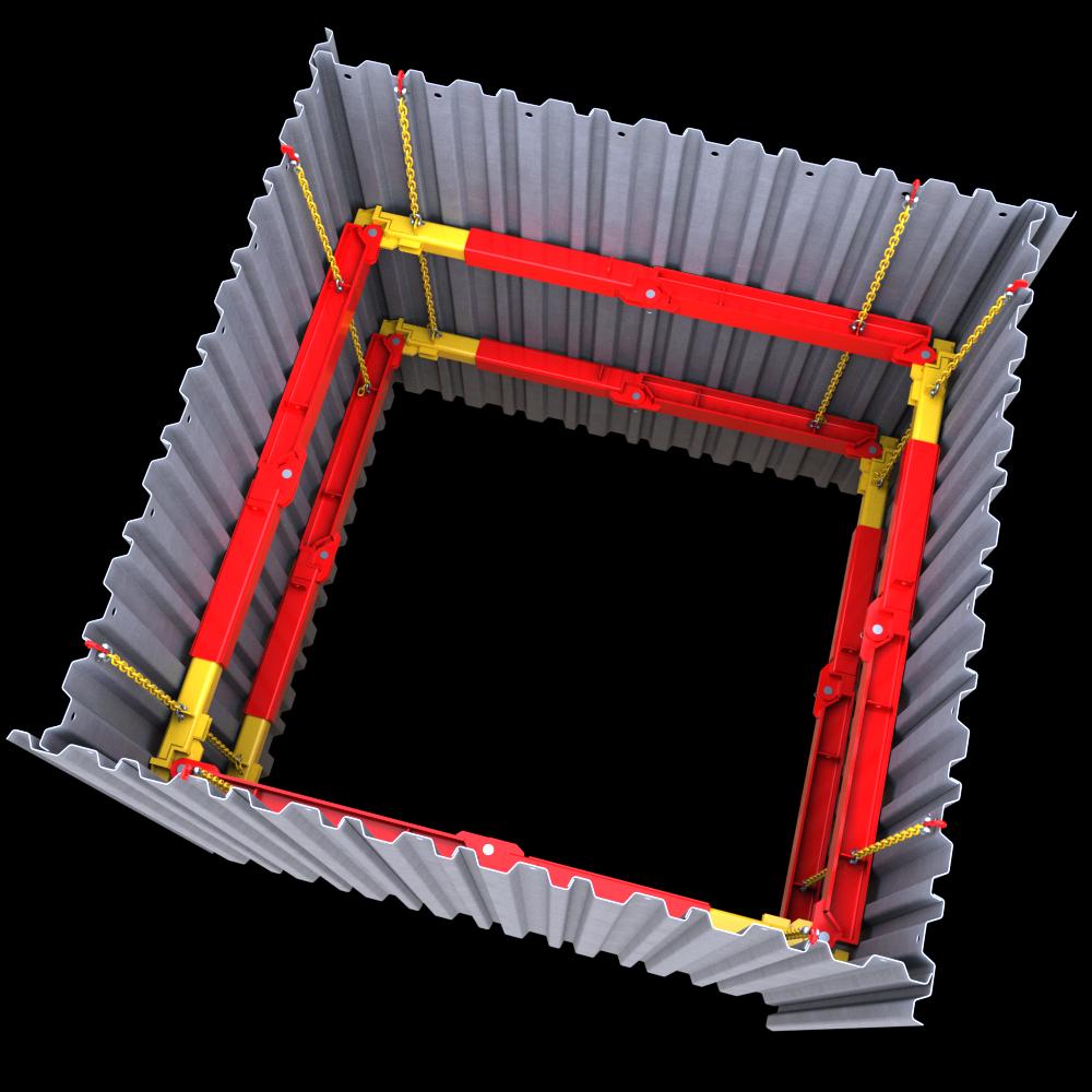 Full 3D image of a 203 UC Brace