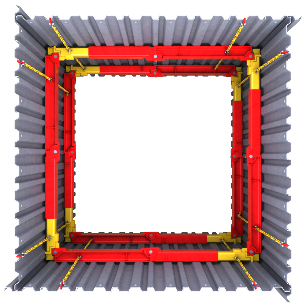 Above view of a 203 UC Brace 3D animation