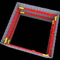 3D image of 254 UC Brace installation
