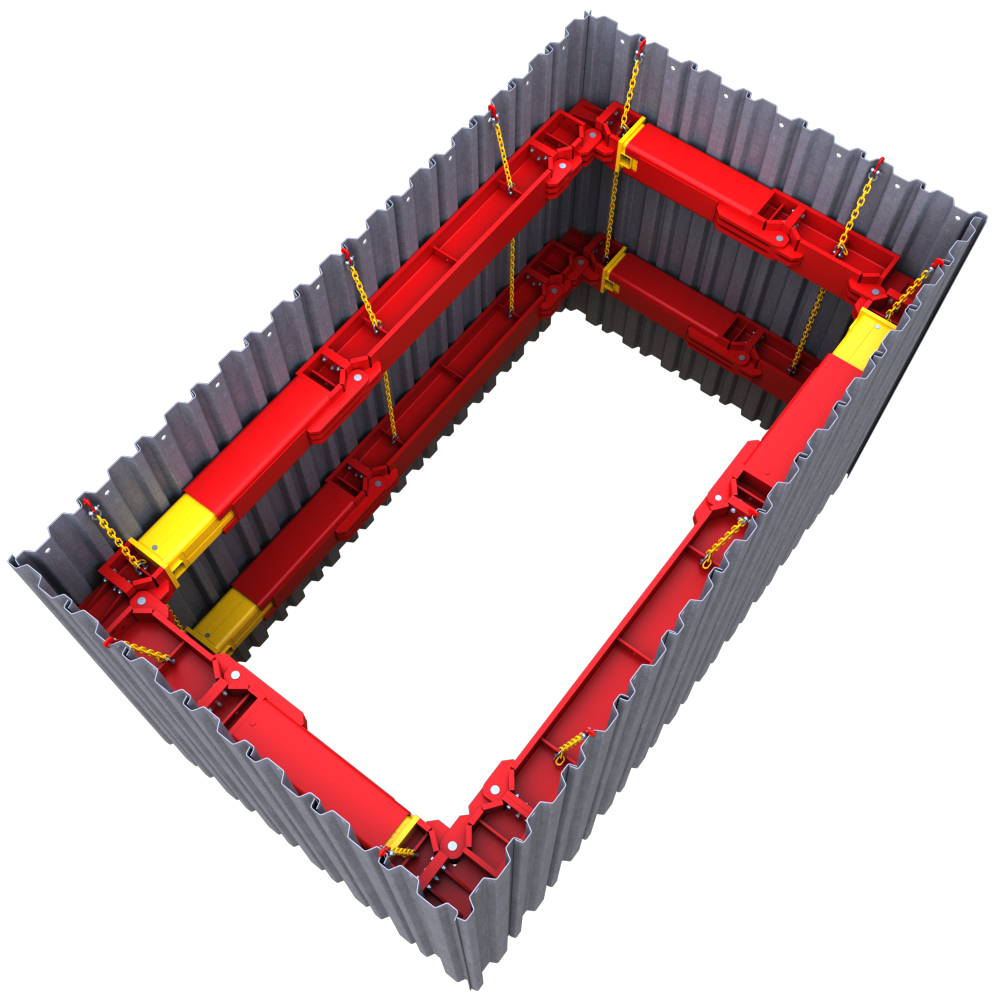 Above view of a 406 UC Brace animation