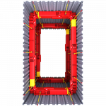 Aerial view of a 406 UC Brace 3D image