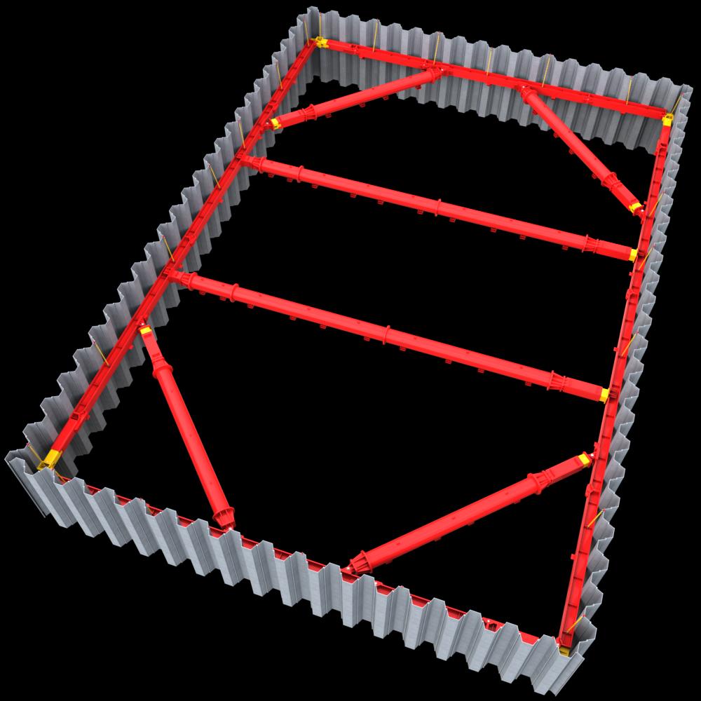 cad drawing of mgf 600 series struts