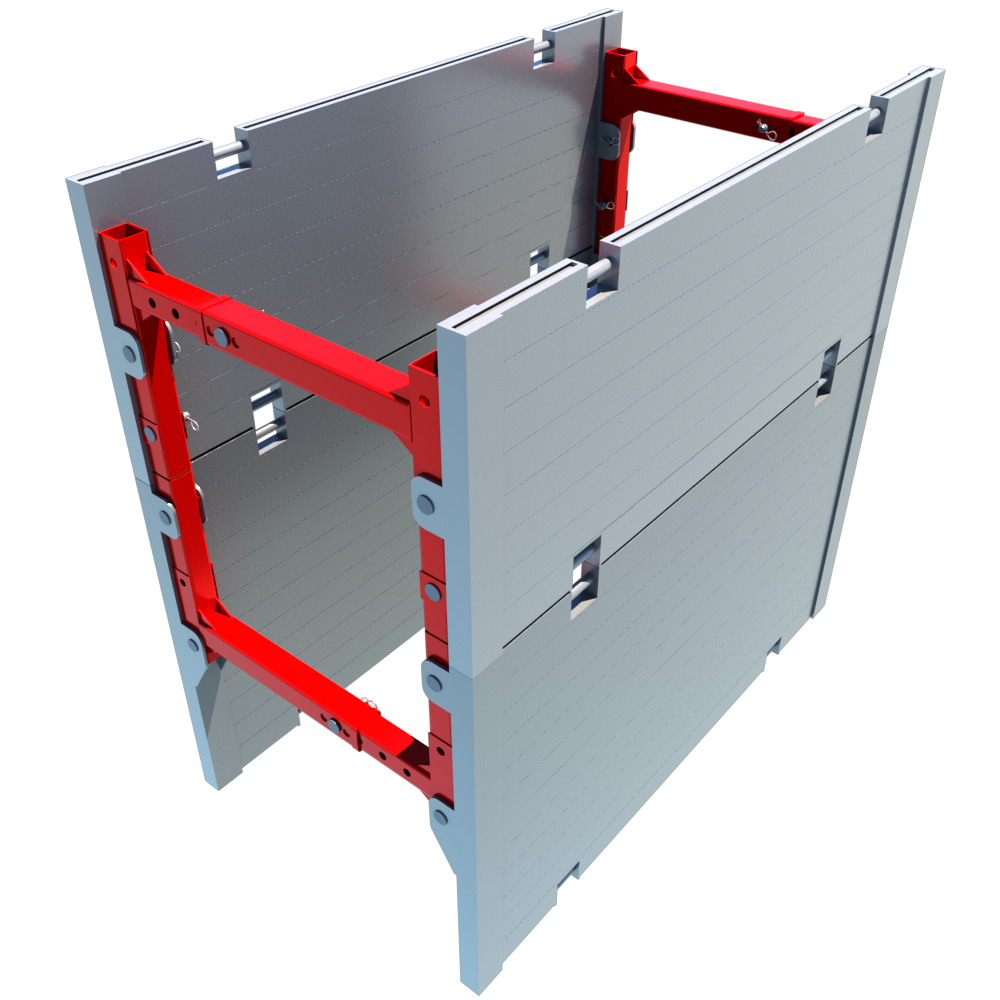 Aluminium Trench Box render