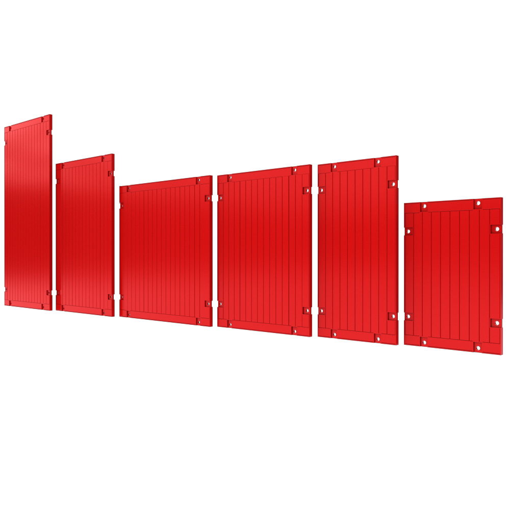 3D image of Endsafe Panels in different sizes