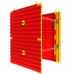 Side view of GRP Modular Trench Box animation