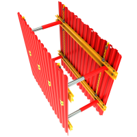 Above view of a GRP Sheets & Walers animation