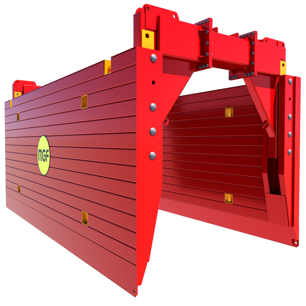 Side view of a High Clearance Trench Box render