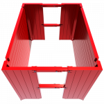 Above view of a Manhole Box render