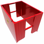 Full view of a Manhole Box rendered animation