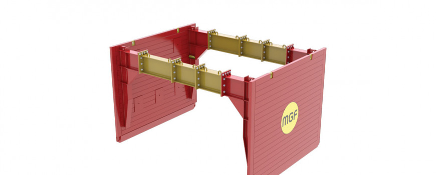 Animation of MGF's new Utility Trench Box