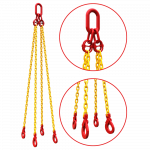 4 leg chain with 2 close ups of connection points