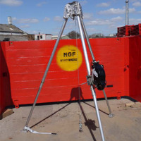 tripod in front of mgf manhole box panel